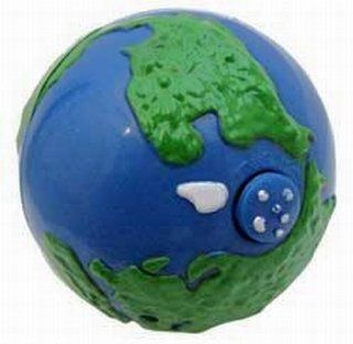 "PKG(2) 3 1/2"" Diameter Rolling Earth Ball. Great Cat Toys Toys & Games"