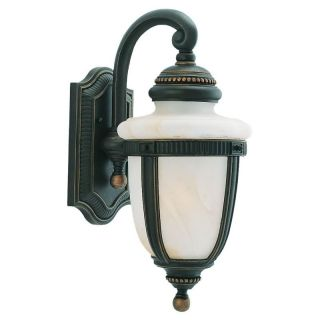 Sea Gull Portofino Outdoor Wall Lantern   20.25H in. Mojave Luster   Outdoor Wall Lights