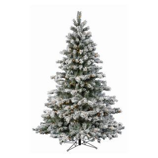 Flocked Aspen Pre lit LED Christmas Tree   Christmas Trees