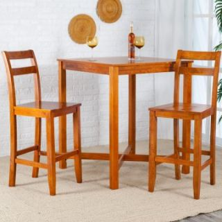 Mahoney Pub Table Set   Oak   Indoor Bistro Sets