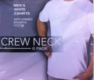 White Crew Neck T Shirts (Pack of 6) at  Men�s Clothing store Undershirts