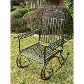 International Caravan Tropico Wrought Iron Rocker   Outdoor Rocking Chairs