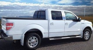 "09 2013 F150 Crew Cab 6.5' Short Bed W/Fender Flare Groove Insert Rocker Panel Chrome Stainless Steel Body Side Moulding Molding Trim Cover 1/2"" Wide 12PC Automotive"