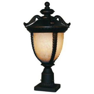 Z Lite Winchester Outdoor Post Light with Pedestal   12W in. Black Gold   Outdoor Post Lighting
