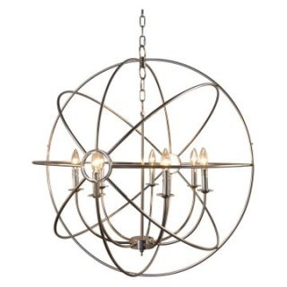 Yosemite Home Decor Shooting Star 7 Light Mini Chandelier   32.7W in.   nickel plated Finish   Chandeliers