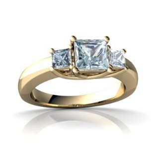 Genuine Aquamarine 14kt Yellow Gold timeless Ring Jewels For Me Jewelry