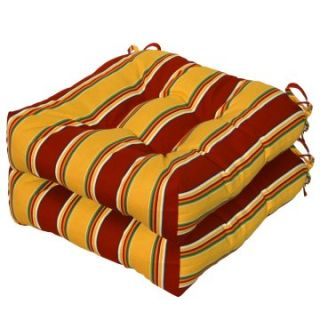 Greendale Home Fashions 20 inch Outdoor Seat Cushions Set of 2   Outdoor Cushions