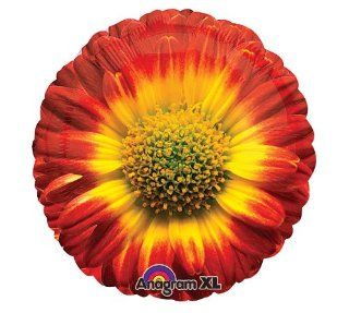 "SUNFLOWER 18"" BALLOONS BIRTHDAY SHOWER WEDDING BABY SUMMER AUTUMN & FREE RIBBON Health & Personal Care"