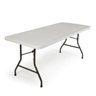Correll Rectangle Economy Blow Molded Folding Table   White   Banquet Tables