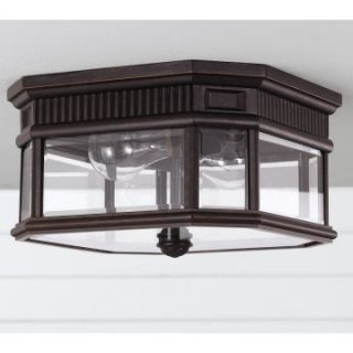 Feiss Cotswold Lane Outdoor Ceiling Light   6.5H in. Grecian Bronze   Outdoor Ceiling Lights
