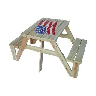 Kids Picnic Table   American Flag   Picnic Tables