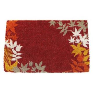 Enchanted Garden Extra Thick Hand Woven Coir Doormat   Outdoor Doormats