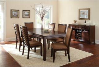 Steve Silver 7 Piece Cornell Dining Table Set   Espresso   Dining Table Sets