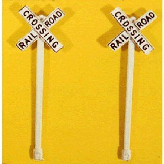 RAILROAD CROSSBUCK SIGNS   JL INNOVATIVE DESIGN HO SCALE MODEL TRAIN ACCESSORIES 845 Toys & Games