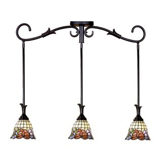 Dale Tiffany Burbridge 3 Light Mini Pendant   34 watt in. Verona Bronze   Billiard Lights