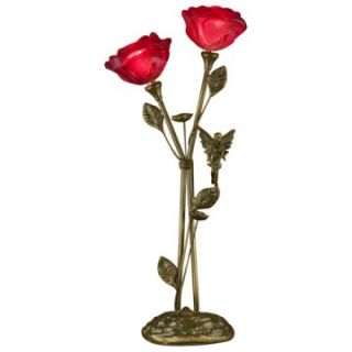 Dale Tiffany Love Rose 2 Light Table Lamp   Table Lamps