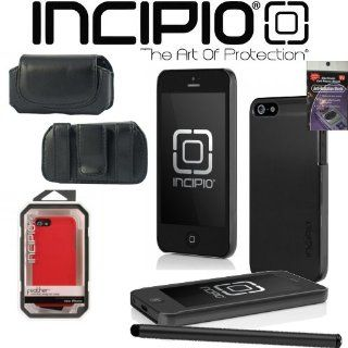 Incipio featherSHINE Case for Apple iPhone 5   Black Incipio Item IPH 871, Leather Horizontal Case that fits your phone with the Incipio Cover on it, Radiation Shield and Stylus Pen. Cell Phones & Accessories