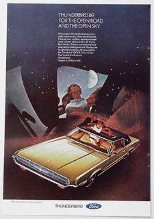 1969 Ford Thunderbird 2 Door Landau Open Road Open Sky Print Ad (848)