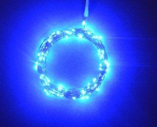 Ebuyingcity Blue 2m/6.5ft 20 LED Copper Wire String Lights Battery Operated for Xmas Christmas Tree Wedding Outdoor Party  Bike Lighting Parts And Accessories  Sports & Outdoors