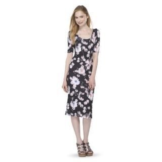 Mossimo Supply Co. Juniors Printed Midi Dress   Broken Floral XL(15 17)