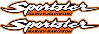 Harley Davidson Sportster 883 1200 Decals Stickers Bobber Graphics HD Gas Tank MOtorcycle Orange