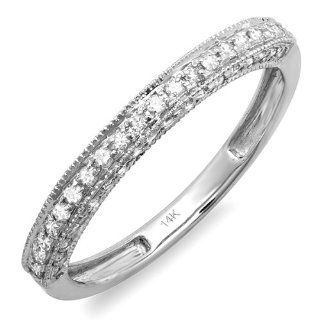 0.40 Carat (ctw) 14k White Gold Round Diamond Ladies Anniversary Wedding Band Enhancer Guard Ring Jewelry