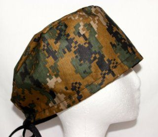 Mens Scrub Cap, Surgical Hat, Digital Camo