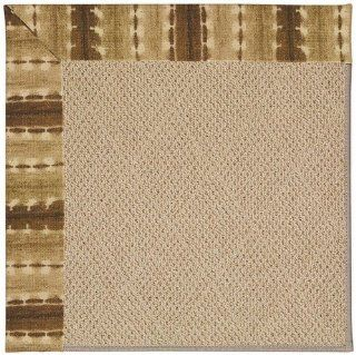 Java Journey Chestnut Indoor/Outdoor Solid rug by Capel Shoal Sisal in 8'x8'   Area Rugs
