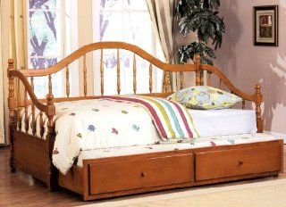 Inland Empire Furniture Hamburg II Dark Cherry Solid Wood Spindle Camel Style Curved BaCalifornia King Daybed w/Trundle Home & Kitchen