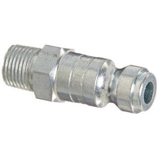 "Dixon Valve DCP101 Steel Air Chief Automotive Interchange Air Fitting, Quick Connect Plug, 1/4"" Coupler x 1/8"" NPT Male Thread, 37 CFM Flow Rating Quick Connect Hose Fittings"