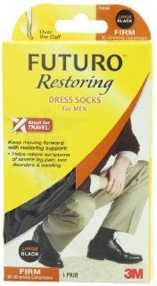 Futuro Restoring Dress Socks for Men, Black, Large, Firm (20 30 mm/Hg) Health & Personal Care