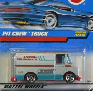 Mattel Hot Wheels 1998 164 Scale Silver Pit Crew Truck Die Cast Car Collector #874 Toys & Games