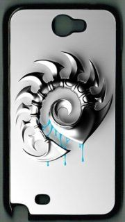 Starcraft Zerg Samsung Galaxy Note II N7100 Case White, Hard Outer Shell DIY Cover By Customonline Cell Phones & Accessories