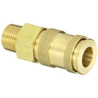 "Dixon Valve UDC2103 Brass Air Chief Universal Quick Connect Air Hose Socket, 1/4"" Coupler x 3/8"" NPT Male Thread, 37 CFM Flow Rating Quick Connect Hose Fittings"