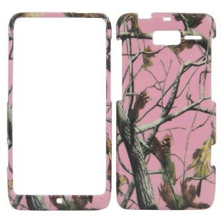 Motorola Droid Razr M XT907   Camo Camouflage Pink Matte Finish Hard Plastic Cover, Case, Easy Snap On, Faceplate. Cell Phones & Accessories