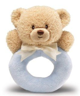 "Gund Baby Ring Rattle Blue, Teddy, 6""  Baby"