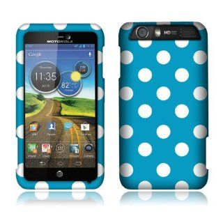 Motorola Atrix Hd Mb886 Blue/white Dots Cover Cell Phones & Accessories