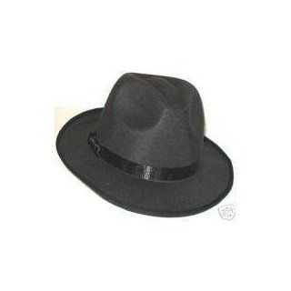 MICHAEL JACKSON BLACK FEDORA HAT   BILLIE JEAN NEW