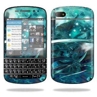 MightySkins Protective Vinyl Skin Decal Cover for BlackBerry Q10 Cell Phone SQN100 3 Sticker Skins Distortion Electronics