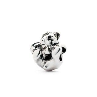 Novobeads Baby Bear Sterling Silver Charm Bead   Fits all major bead bracelets Jewelry