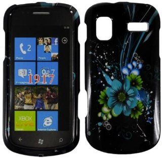 Blue Flower Hard Case Cover for Samsung Focus i917 Cell Phones & Accessories