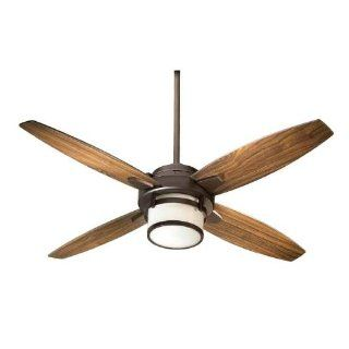 Quorum International 58524 86 Alta 52 4 Blade Indoor Ceiling Fan With Blades And 1 Bulb Light Kit Included In Oiled Bronze