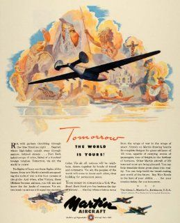 1943 Ad Glenn L. Martin Military Aircraft WWII War Production Aviation Airplanes   Original Print Ad