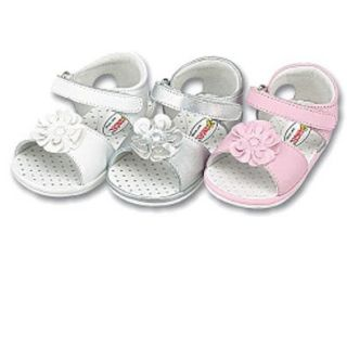 Baby Girls Shoes Patent White Stripe Bow Sandals 1 Shoes