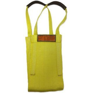 "Stren Flex LB1 906 3 Type 9 Light Duty Nylon Cargo Basket Web Sling, 1 Ply, 3000 lbs Basket Hitch Capacity, 3' Length x 6"" Width, Yellow Industrial Web Slings"