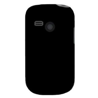 Silicone Gel Skin Sleeve BLACK Rubber Soft Cover Case for LG UN200 / SABER (US CELLULAR) [WCC927] Cell Phones & Accessories