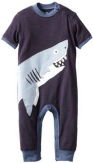 Hatley   Baby Boys Infant Day Soft Romper, Sharks, 12 18 Months Infant And Toddler Rompers Clothing