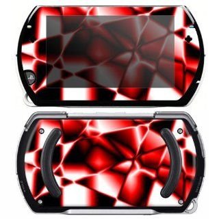 Sony PSP Go Skin Decal Sticker   Abstract Red Reflection