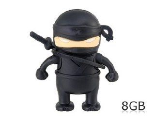 Ninja Shaped 8GB USB Flash Drive (Black) Electronics