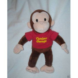 "Russ Berrie Curious George with Red Shirt 16"" Plush Toys & Games"